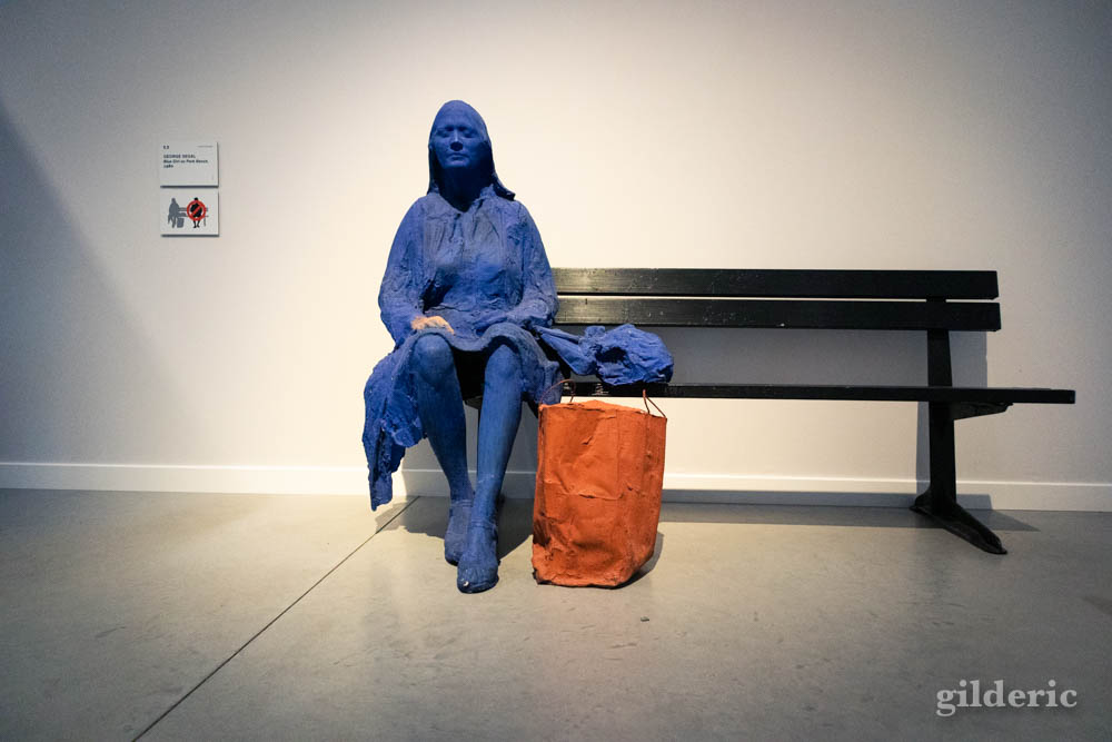 George Segal : Blue Girl On Park Bench