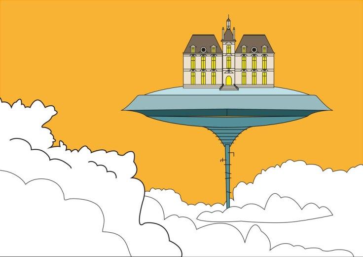 Cloud City et Moulinstar - dessin vectoriel
