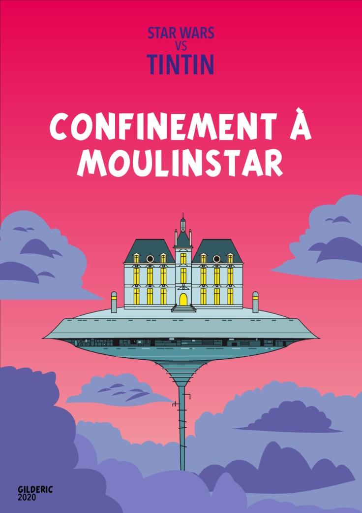 Tintin vs Star Wars : couverture Confinement à Moulinstar (variante)