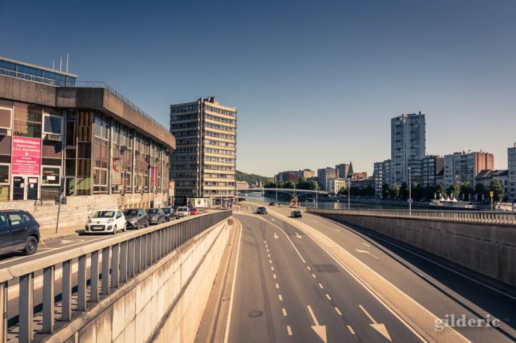 Liège avant le déconfinement : quais déserts