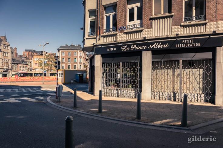 Liège avant le déconfinement : café fermé