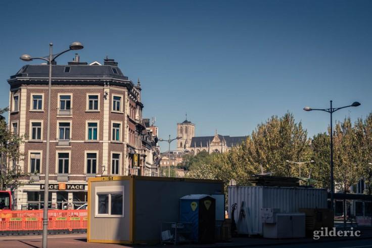 Liège, ville fantôme : Saint-Martin et le boulevard en travaux