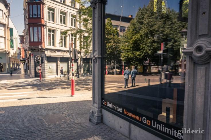 Liège ville fantôme : reflets