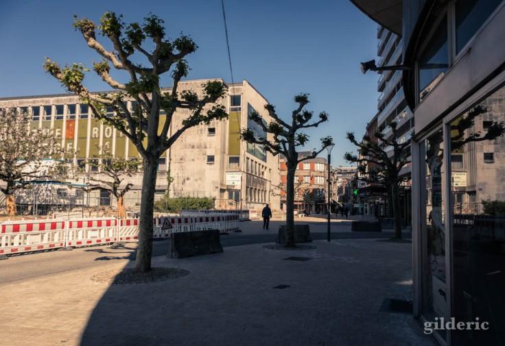 Liège avant le déconfinement : Liège 1 près des Chiroux