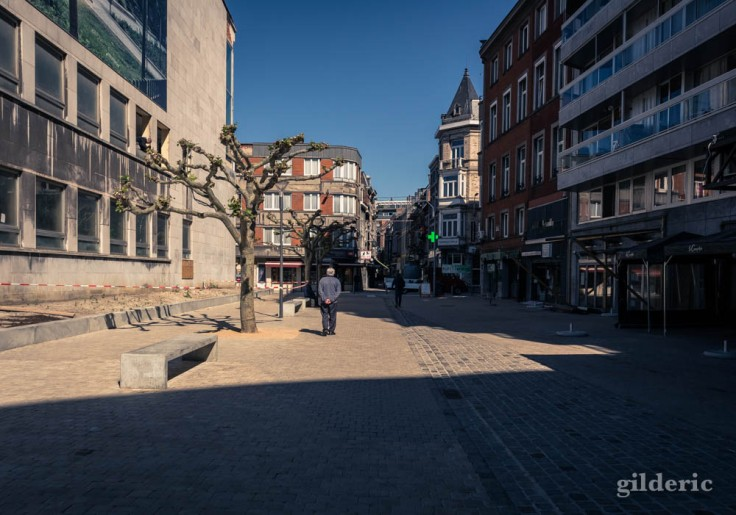 Liège avant le déconfinement : silence et calme