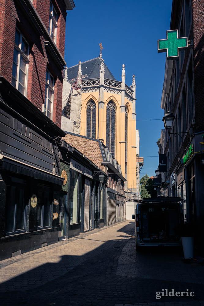Liège avant le déconfinement : les couleurs de la cathédrale Saint-Paul