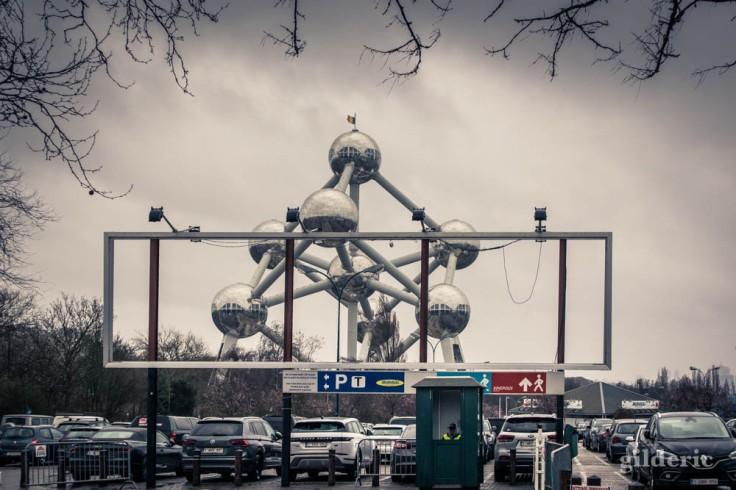 Atomium vu du parking du Heysel