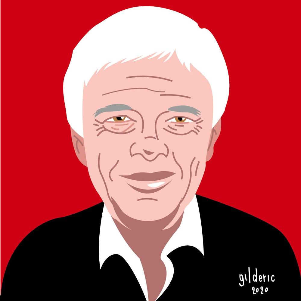 Guy Bedos : portrait (illustration vectorielle)