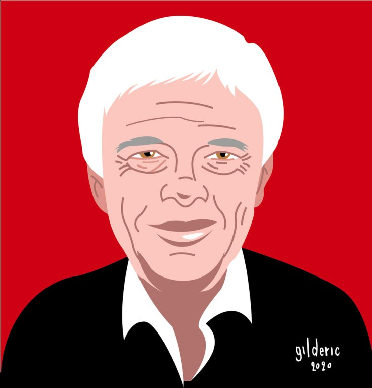 Guy Bedos : portrait (illustration vectorielle)