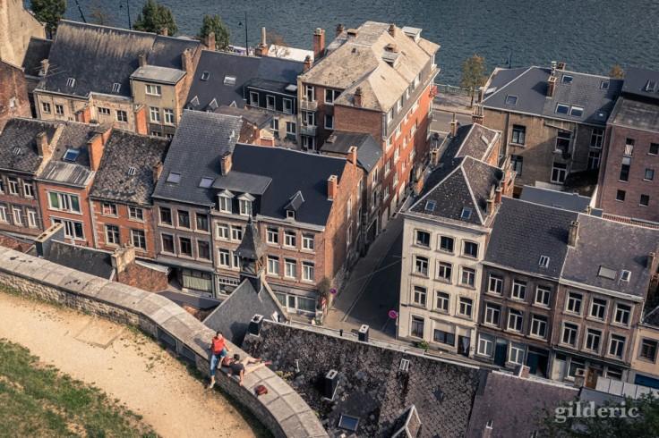 Citadelle de Namur : vue plongeante sur la ville