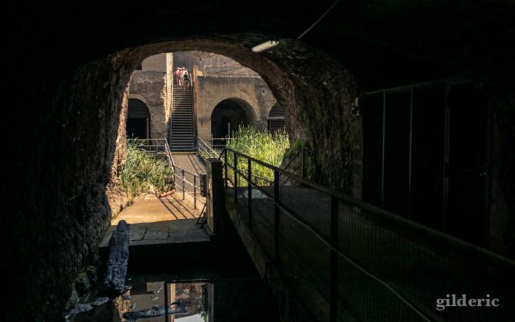 Plage antique d'Herculanum, en sortant du tunnel