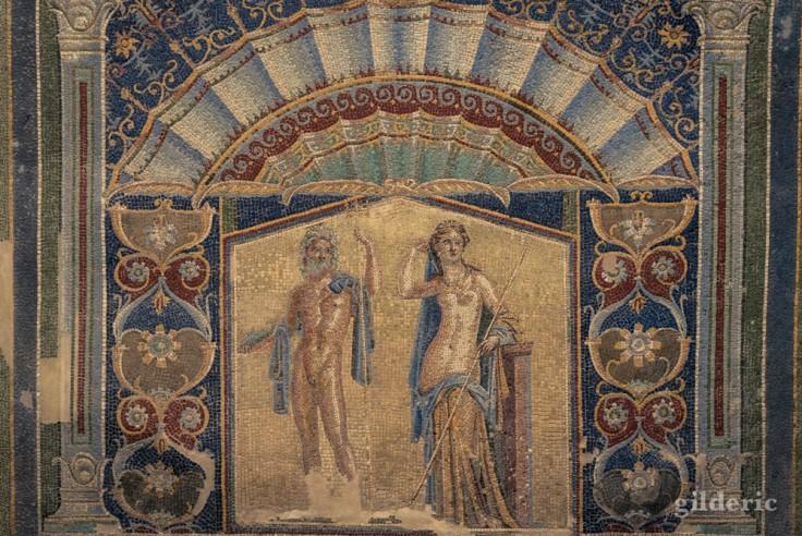 Neptune et Amphitrite (mosaïque) à Herculanum