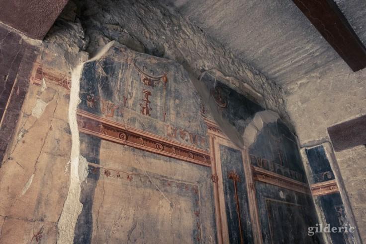 Décors intérieurs de la Casa del Salone Nero à Herculanum