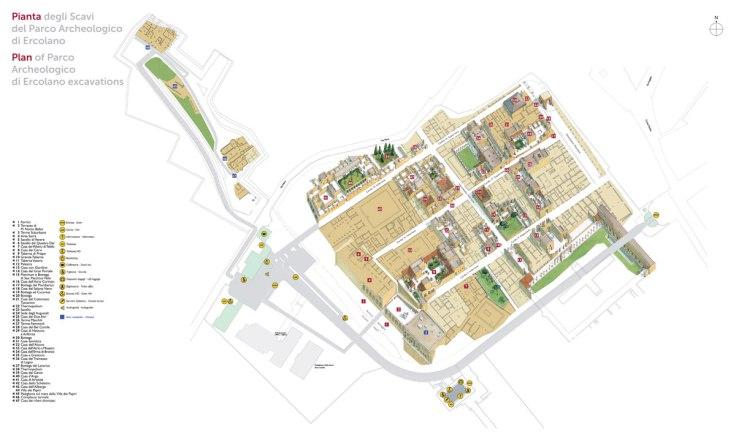 Plan officiel du site archéologique d'Herculanum