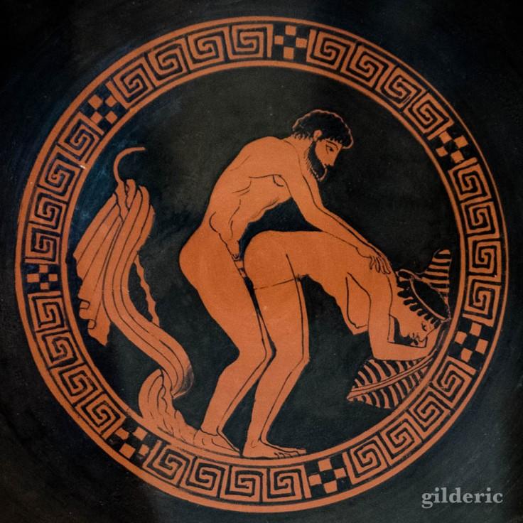 Poterie grecque à scène érotique, Cabinet secret, Musée archéologique de Naples