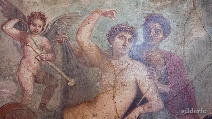 Mars et Vénus (détail d'une fresque de Pompéi), au Musée archéologique de Naples