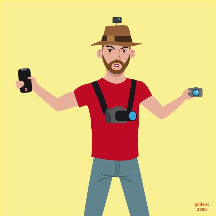 Quel appareil photo choisir ? - Dessin (flat design illustration)