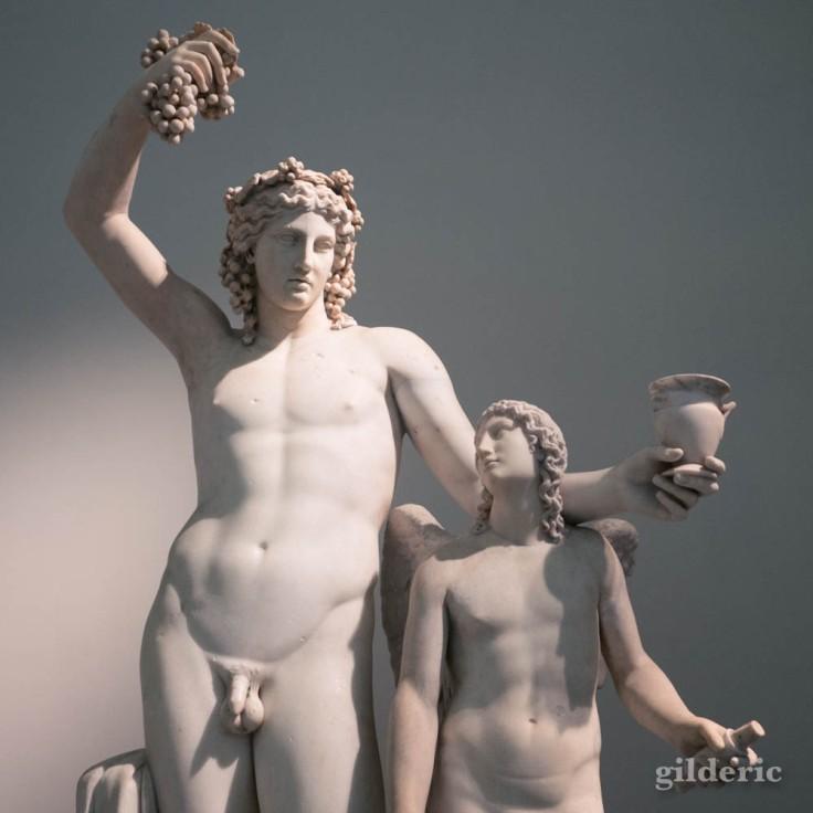 Dionysos et Eros, Collection Farnèse au Musée archéologique de Naples