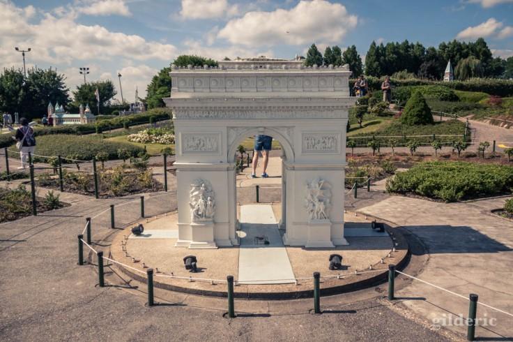 Mini Europe : l'Arc de Triomphe en miniature