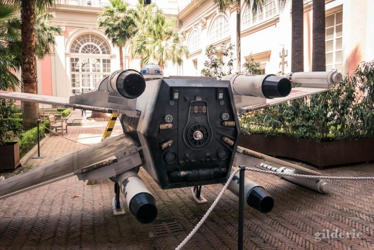 X-Wing (Star Wars) au Musée archéologique de Naples