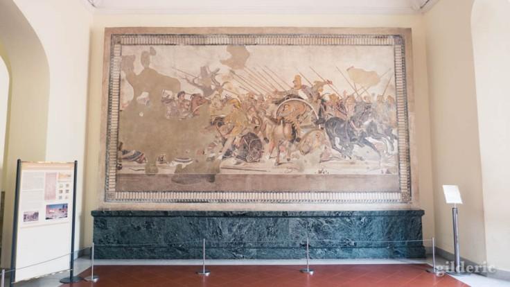 Bataille d'Alexandre (Mosaïque de Pompéi) au Musée archéologique de Naples