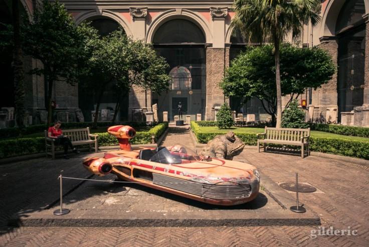 Landspeeder de Luke Skywalker (Star Wars) au Musée archéologique de Naples