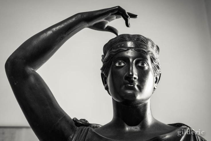 Sculpture en bronze d'Herculanum au Musée archéologique de Naples