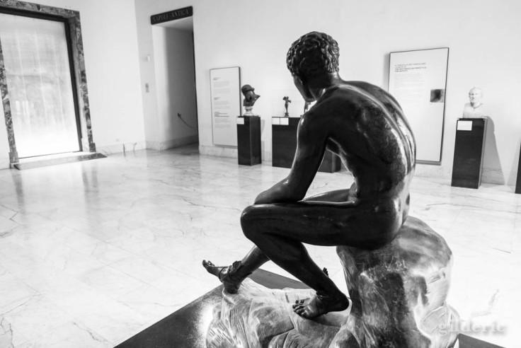 Hermès au repos - Statue de la villa des Papyrus au Musée archéologique de Naples