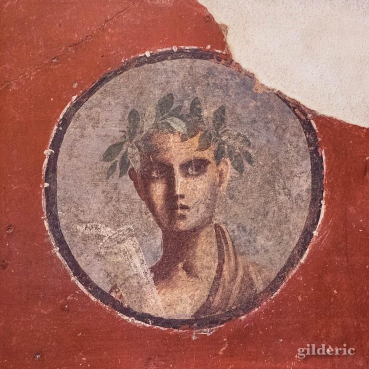 Portrait - fresque de Pompéi au Musée archéologique de Naples