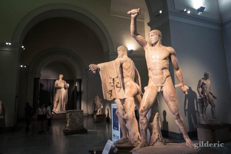 Les Tyrranoctones, sculptures de la collection Farnèse, au Musée archéologique de Naples