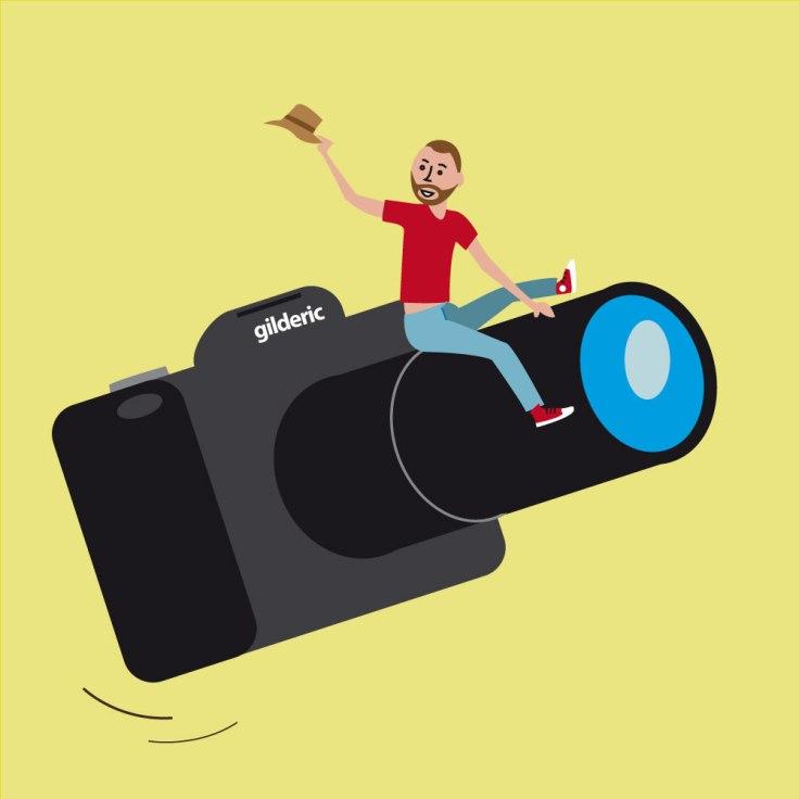 Comment maîtriser son appareil photo - dessin (flat design illustration)