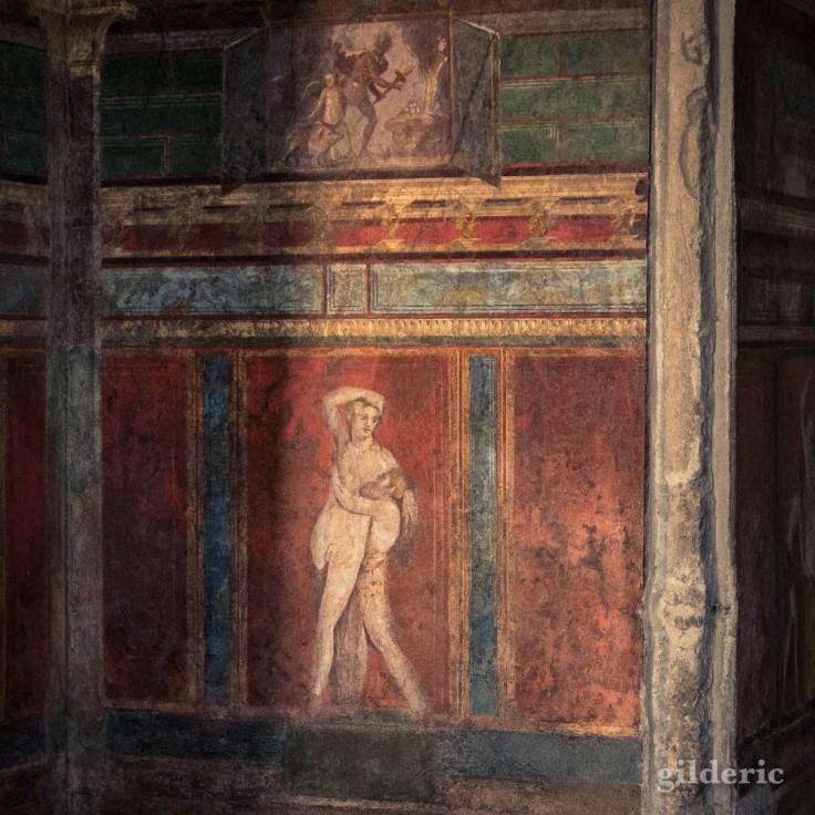 Scène érotique de la Villa des Mystères à Pompéi