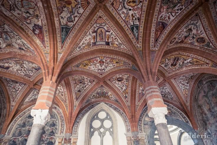 Visiter Naples : plafond de San Lorenzo Maggiore