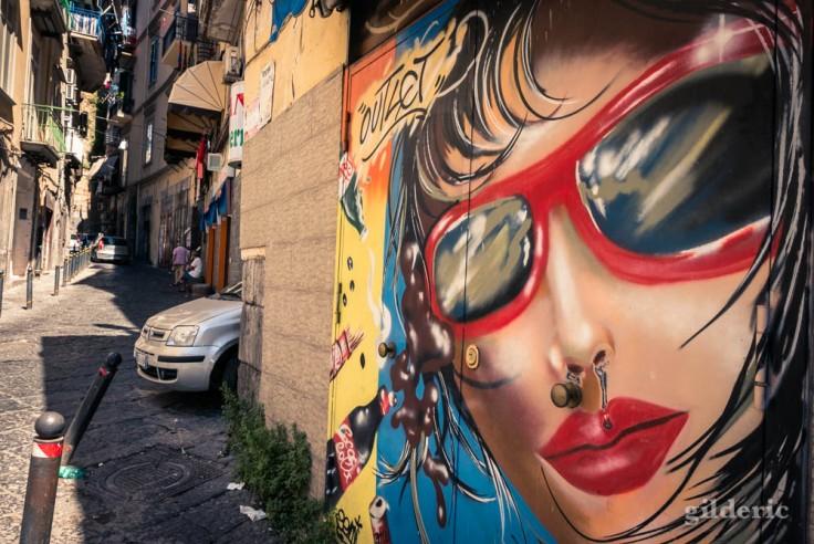 Visiter Naples : street art dans le centre historique