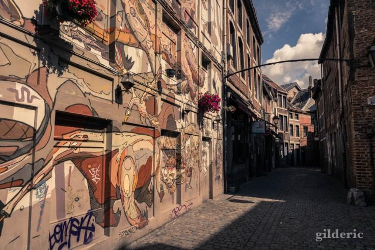 Fresque street art en Roture (Liège)