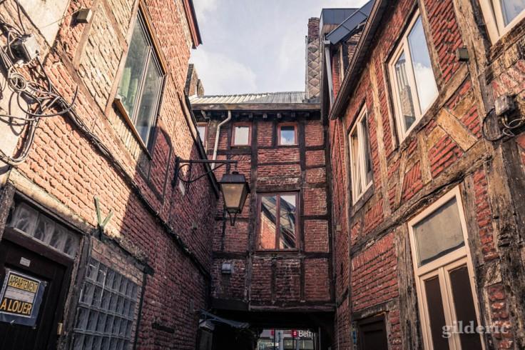 Colombages (détails des anciennes maisons de Roture (Liège)