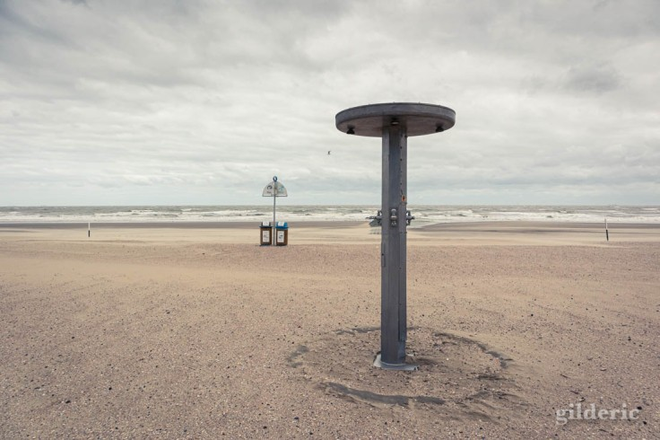 Tempête à Blankenberge : la plage est déserte