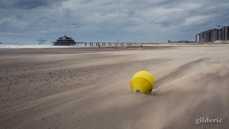 Tempête à Blankenberge : la bouée et le Pier