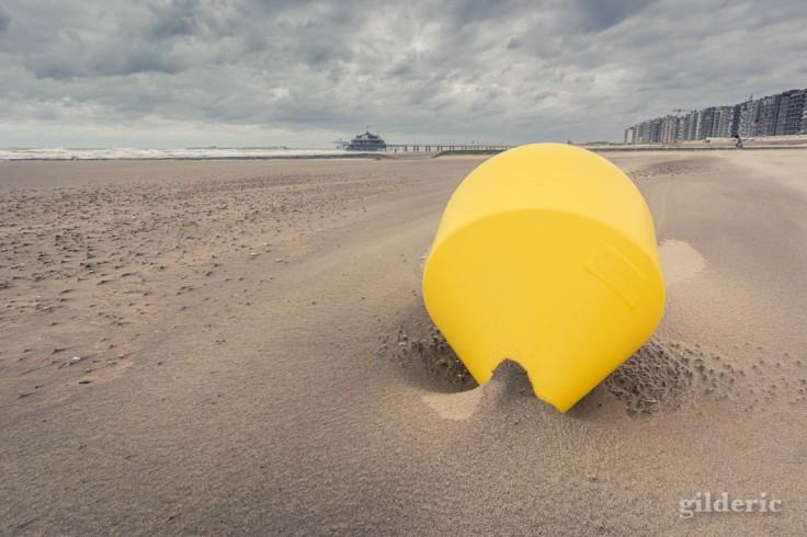 Tempête à Blankenberge : la bouée jaune et le Pier