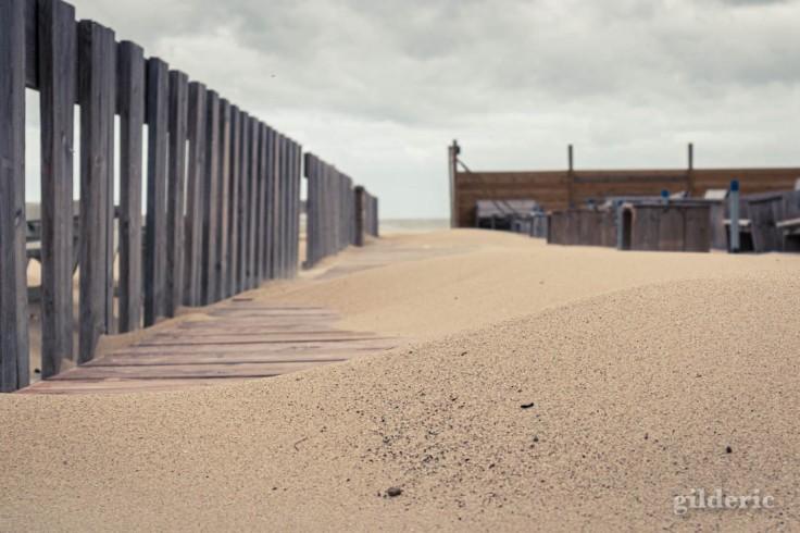 Tempête à Blankenberge : vers la plage
