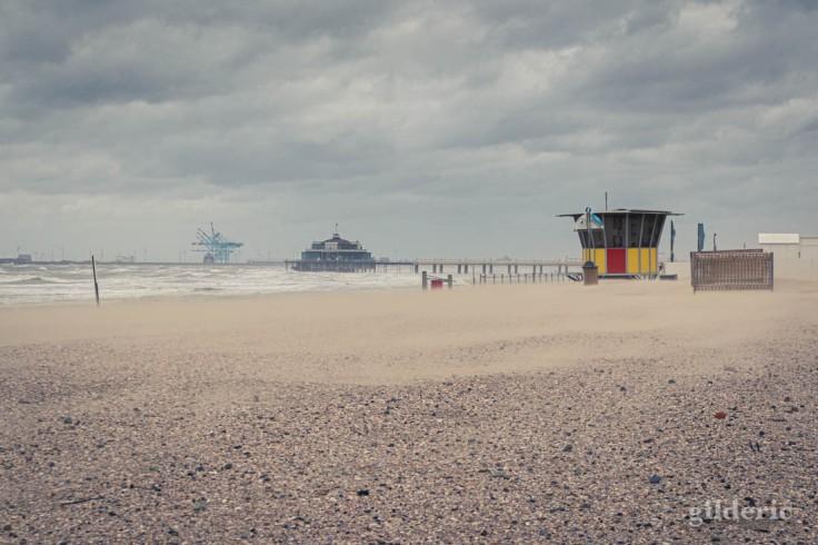 Tempête à Blankenberge : le sable danse sur la plage