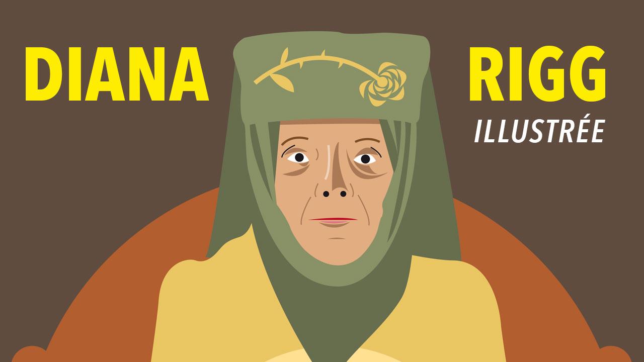 Diana Rigg illustrée : de Emma Peele à Olenna Tyrell