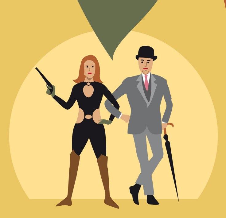 Diana Rigg est Emma Peel (vector illustration)