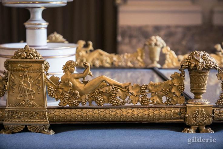 Palais royal de Naples : décoration de table