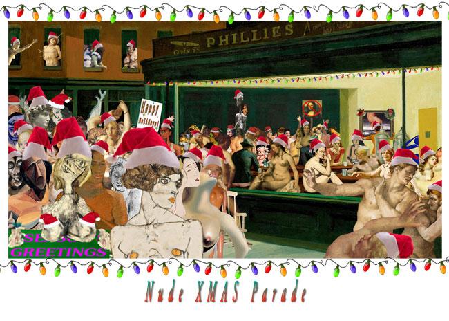 Nude Xmas Parade par AberrantArt (parodie de Hopper)