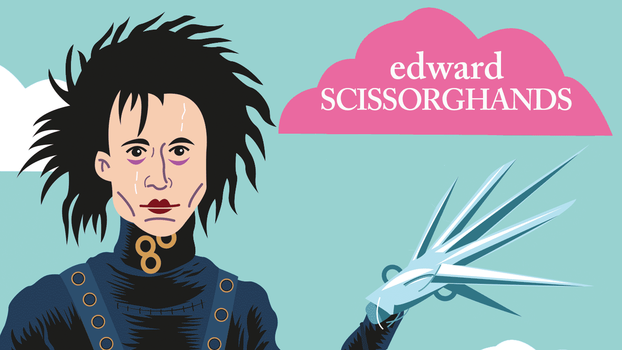Edward aux mains d'argent : un film culte de Tim Burton illustré par Gilderic