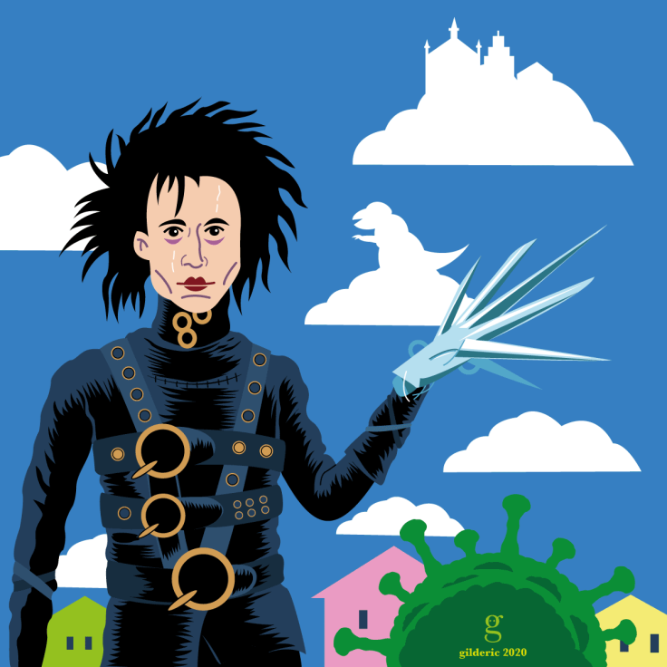 Edward Scissorhands - illustration vectorielle (version sombre)