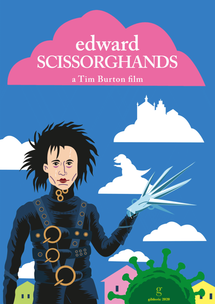 Poster alternatif Edward Scissorhands (version sombre)
