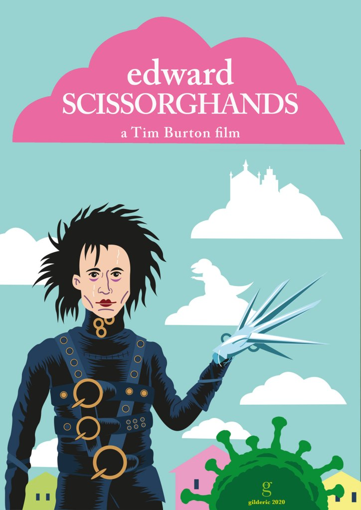 Edward Scissorhands, poster alternative (version claire)