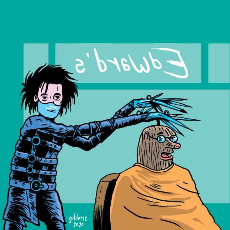 Taupe Chef : Edward au mains d'argent (réouverture des coiffeurs) -dessin